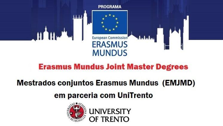 Mestrados conjuntos Erasmus Mundus (EMJMD) em parceria com UniTrento