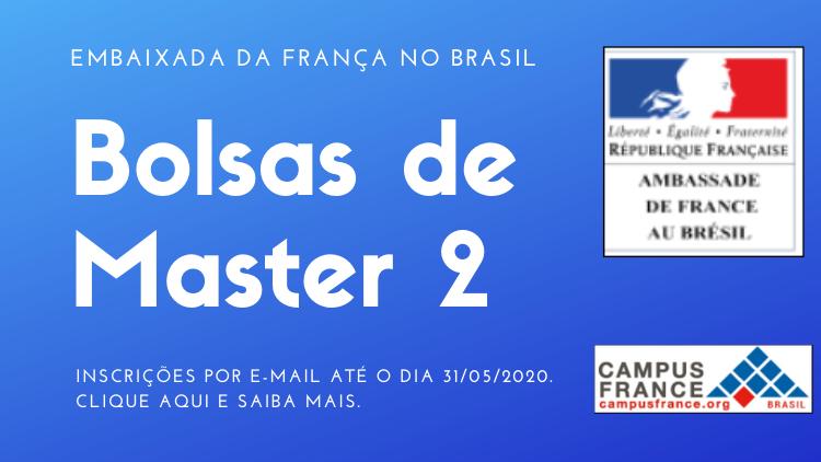 Bolsas de Master 2 - Embaixada da França no Brasil