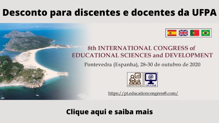 8th INTERNATIONAL CONGRESS of EDUCATIONAL SCIENCES and DEVELOPMENT (presencial e online)