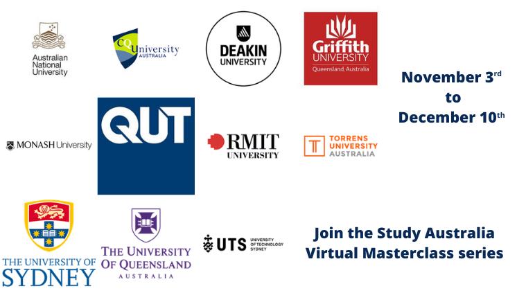 Study Australia Virtual Masterclass series (03/11 à 10/12)