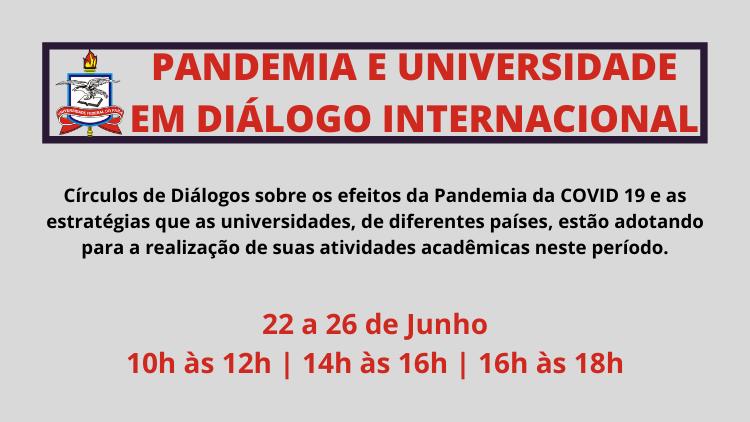 Pandemia e Universidade em Diálogo Internacional